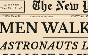 Old Newspaper Moon Landing with HTML and CSS